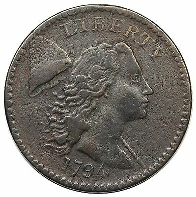 1794 Liberty Cap Large Cent, Head of '94, S-44, VF detail