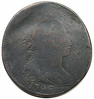1796 Draped Bust Large Cent, Reverse of '97, rare S-100, R.5, G+ detail