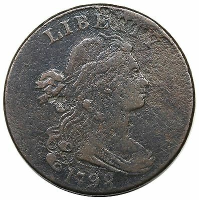 1798 Draped Bust Large Cent, Style 2 Hair, S-173, R.3, MDS, VF detail
