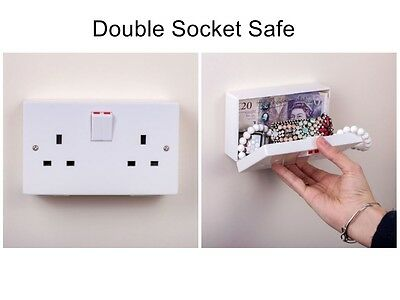 Imitation Double Wall Plug Secret Socket Security Safe by Thumbs Up