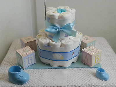Mini 20 Diaper Cake Baby Shower Centerpiece Gift Girl Boy