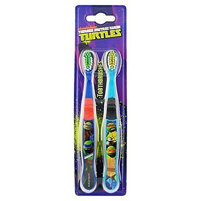 Official Licensed Kids Teenage Mutant Ninja Turtles Twin Pack Toothbrushes