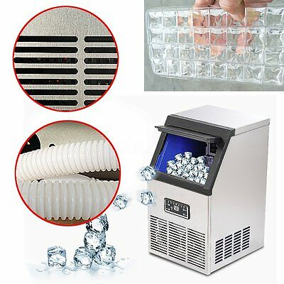 New 40/50/60 kg Auto Commercial Ice Maker Cube Machine Stainless Steel Bar 110V