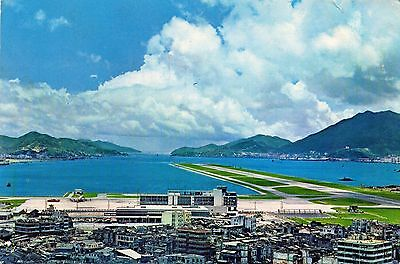 KAI TAK AIRPORT  KOWLOON  HONG KONG  continental size chrome - used 1972