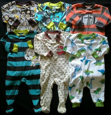 Boys 12 months sleepers footed pajamas clothes lot!