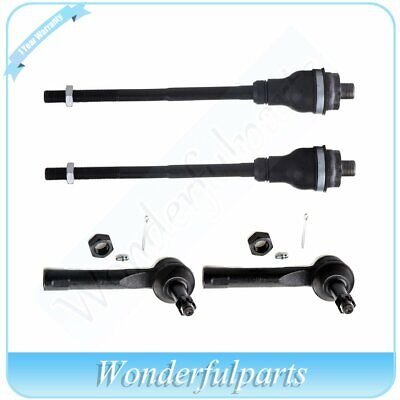 Fit Chevy Silverado 1500 2500 4WD Front Inner & Outer Tie Rod End Steering Kit