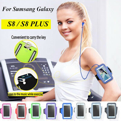 Samsung Galaxy S8 / PLUS Sport Running Armband Case Jogging Gym Arm Band Holder