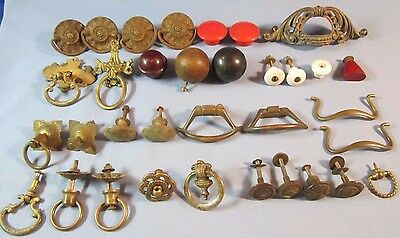 Antique Vintage Mixed Lot of Drawer Pulls Cabinet Hardware