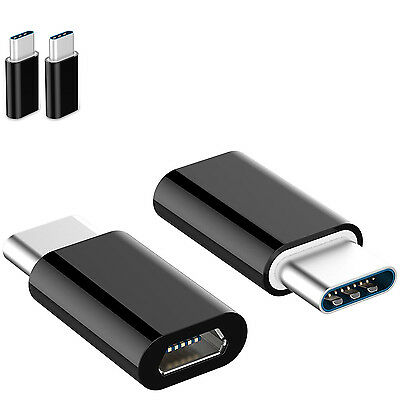2 PACK Micro USB to USB 3.1 Type-C Data Adapter Converter For Samsung LG Google