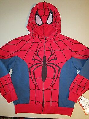 Marvel Spiderman Zip-Up Masked Hoodie Size Small New With Tags