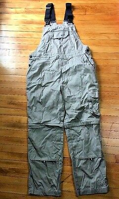 Rosie's Brand Women Workwear Bib Overall Convertible Tan Quality Work Size Small