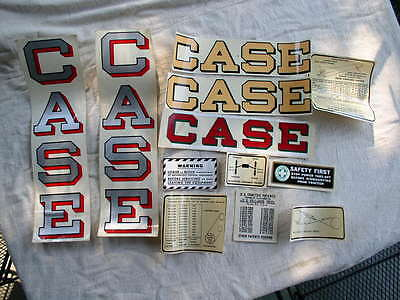 Vintage Original CASE Tractor Transfer Decals Lot