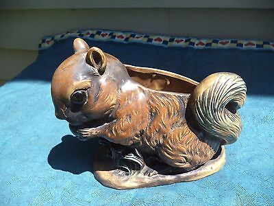 Neat Old Vintage Napco Squirrel With Nut Planter