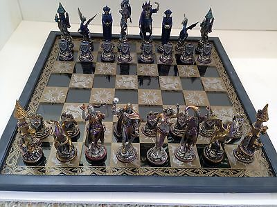 "Franklin Mint..""guardians Of Fortress""...chess Set...michael Whelan"