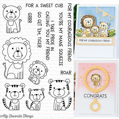 My Favorite Things - Clear Stamps - Lions and Tigers - NEW 2017 RELEASE