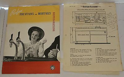 VTG Bastian Blessing Perfex Soda Fountains & Bobtails Catalog 1946 Brochure Ad