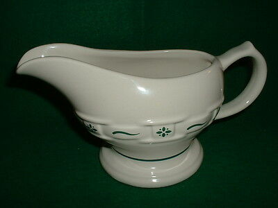 Longaberger - Woven Traditions Pottery - Heritage Green - Gravy Boat