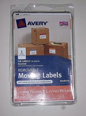 AVERY® Removable Moving Labels Color Coding Assort Colors Sizes Apartment 218/Pk