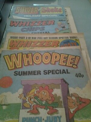 1 Shiver comic  4 Whizzer and Chips 3 Whoopee comics
