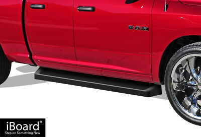 iBoard Black Running Boards Style Fit 09-18 Dodge Ram 1500 Quad Cab