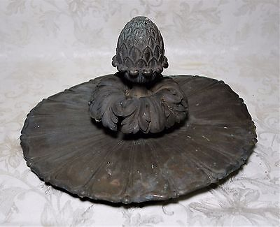 Antique 19th C. Architectural Salvage Solid Copper Pineapple Ceiling Decoration