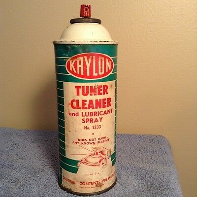 Vintage Krylon Tuner Cleaner and Lubricant Spray Can Paper Label-No. 1333 - 1lb.