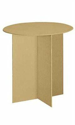 """New Retails Round Display Table With Wood Finger Groove Legs 30""""Dia. X 29 7/8""""H"""