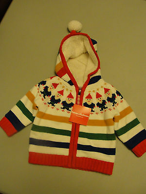 NWT Hanna Andersson Baby Basics Gnome Sweater Size 70, 6 - 12 mths