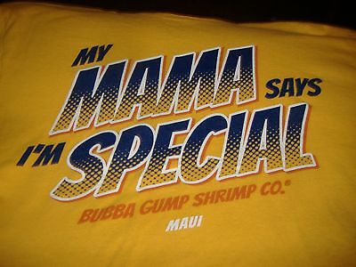 """my Mama Says I'm Special"" Bubba Gump Shrimp Co. Maui Yellow T-Shirt Size"