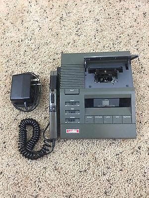 Lanier P149 Microcassette Dictation Machine and Model APS - 139 Adapter