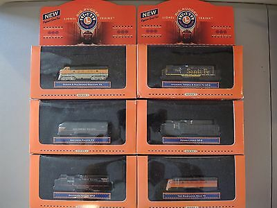 Lionel Decorative Tin Series 1, 1:120 Scale, Big Rugged Trains, Sealed Lot of 6