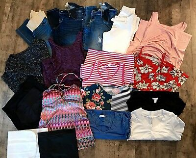 17 LOT Maternity Clothes Jeans XS Small- Liz Lange Ann Taylor Loft ASOS Old Navy