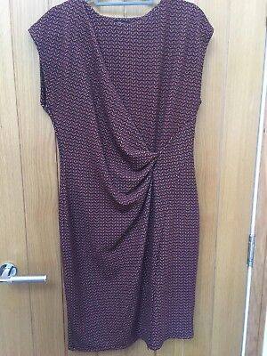 New without tags next orange patterned dress size 14