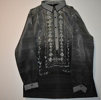 mens barong tagalog with lining hand painting design XL TAG# BNM-1023