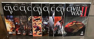 Civil War Ii #0 1 2 3 4 5 6 7 8 0-8 Complete Set 1St Print Nm