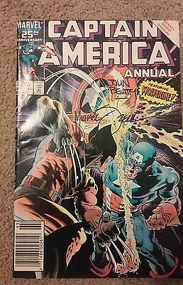 Captain America #8 Annual (1986) signed by John Beatty & Mike Zeck