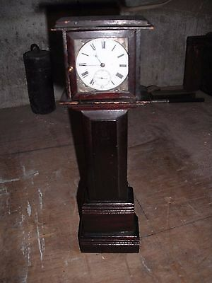 minature grand father clock with watch movement
