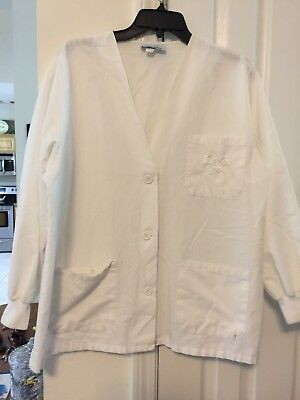 Women's Size Large Angelica Lab Coat Scrub Jacket