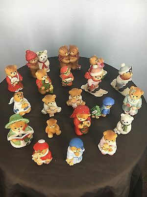 ENESCO Lucy & Me 20 Piece Christmas Holiday Lot Bears Figurines