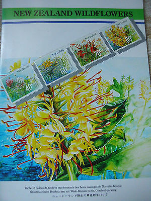 New Zealand Wildflowers 4 Stück Briefmarken 1989