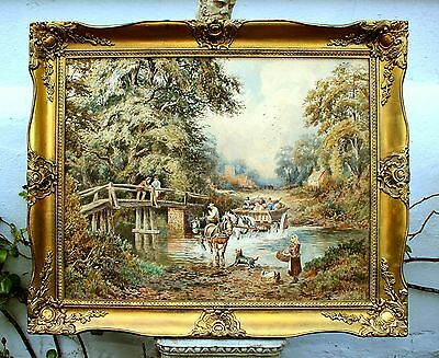 Robert Dobson (1850-1901) - Superb Large Mid Victorian Watercolour - The Bridge