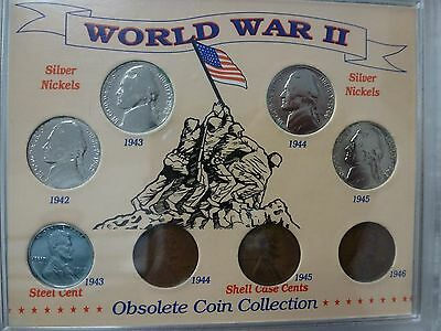 WW2 WORLD WAR II OBSOLETE COIN COLLECTION Silver Nickel Steel Cent #1