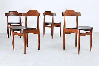 Set Dining Chairs Hans Olsen RØJLE danish modern 1960s TEAK