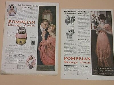 (2) Yardlong Lady Ads ~ 1915 & 1916 ~ Earle Christy & Forbes