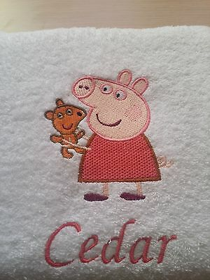 Peppa Pig Personalised Embroidered Face Washer