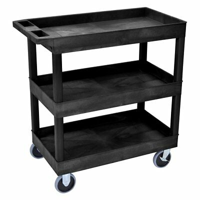 Luxor HD High Capacity 3 Tub Shelf Cart