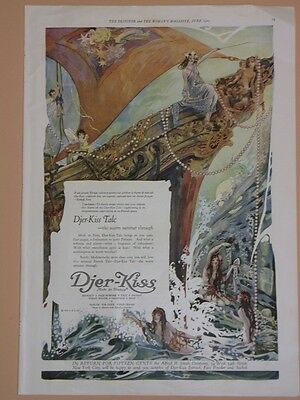 1920 Djer - Kiss ~ Full Page Ad ~ Designer Magazine ~ French Product