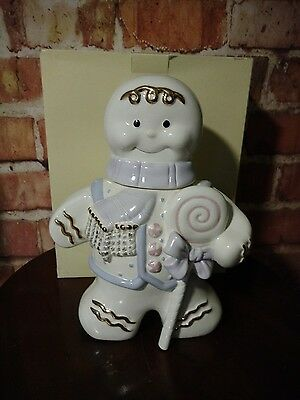Lenox 2002 The  Gingerbread Cookie Jar With Box Retired:free Ship