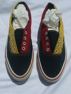 Vintage Vans Shoes Made in USA 1992 Rasta Jamaican scene canvas 24cm us7/7.5?