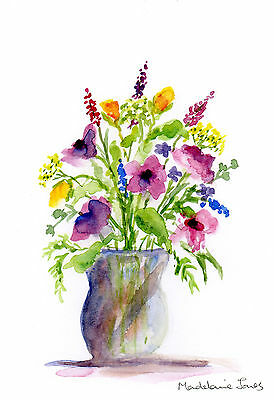 Summer flowers, Original watercolour painting